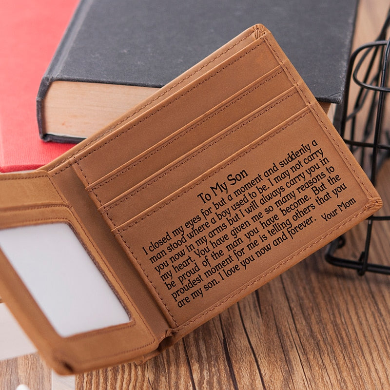Genuine Leather Engraved Wallet Set - Wish Tricks