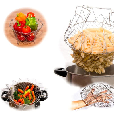 Stainless Steel Foldable Chef Basket - Wish Tricks