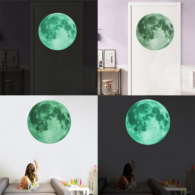 Luminous Moon 3D Wall Sticker - Wish Tricks