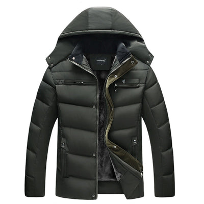 Men Plus Size Fall/ Winter Parka Jacket - Wish Tricks