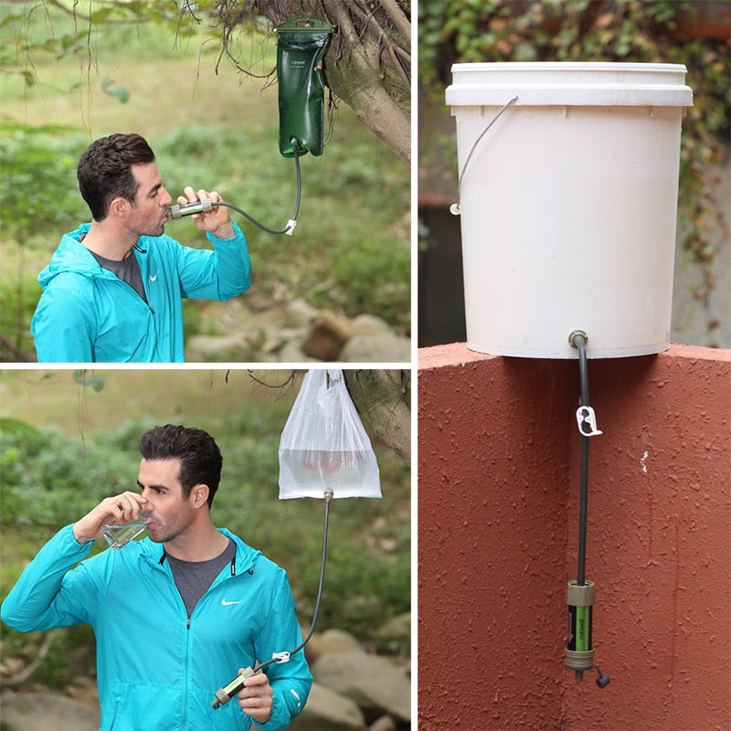 Outdoor Emergency Water Filter Survival Tool - Wish Tricks