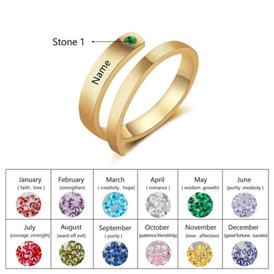 Birthstone Customized Ring - Wish Tricks
