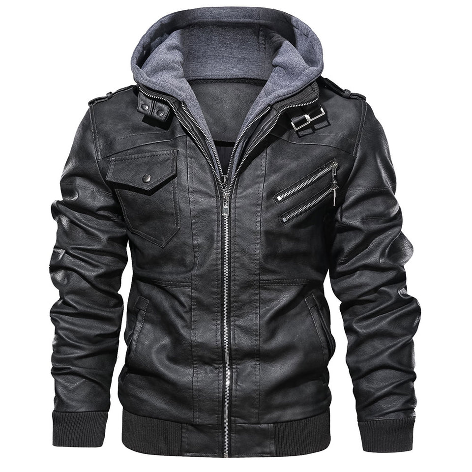 District Club Leather Biker Jacket - Wish Tricks