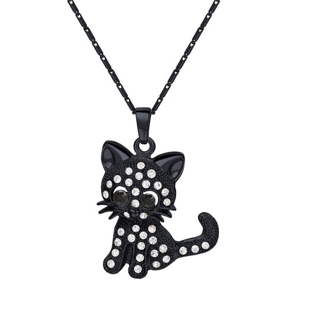 Kitty Cat Pendant Necklace - Wish Tricks