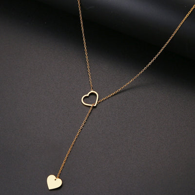 Double Hearts Dainty Necklace - Wish Tricks