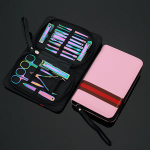 Unicorn 16 Pcs Stainless Steel Pedicure Set - Wish Tricks