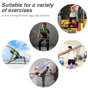 Resistance Band Set With Bag (6 PACK) - Wish Tricks