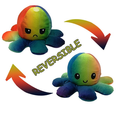 Reversible 2 Mood Octopus Plush Toy