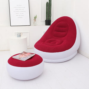 Inflatable Ultra Lounge Chair Ottoman Set
