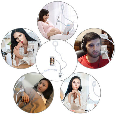 Photo Studio Selfie LED Ring Light with Cell Phone Holder - Wish Tricks