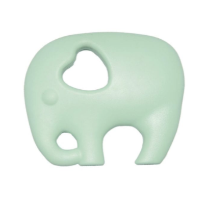 Nibbling Elephant Silicone Teething Toy – Mint