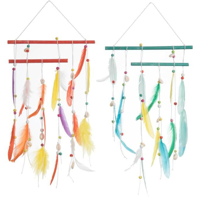 Colourful Feather Wall Hanging