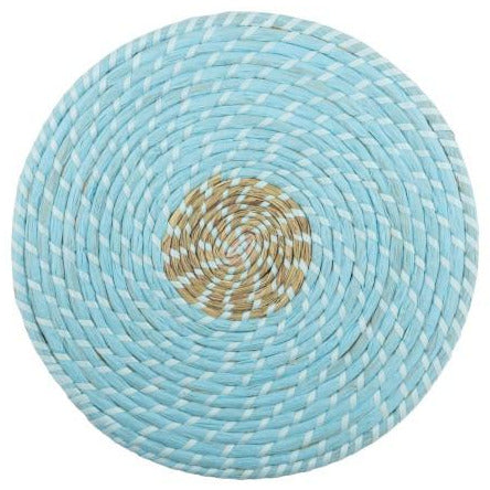 Natural Reed Placemat - Blue
