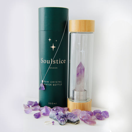 Soulstice Crystal Water Bottle (Various crystals)