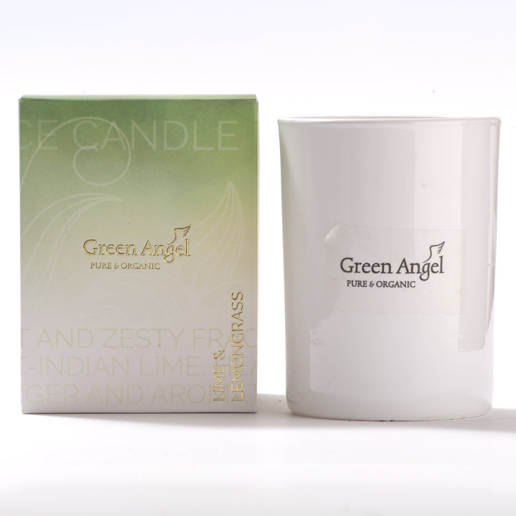 Green Angel Lime & Lemongrass Candle