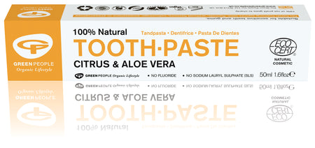 Green People Citrus & Aloe Vera Toothpaste 50ml (Fluoride Free)