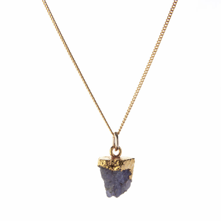 Decadorn Birthstone Pendant (Gold) - December Tanzanite