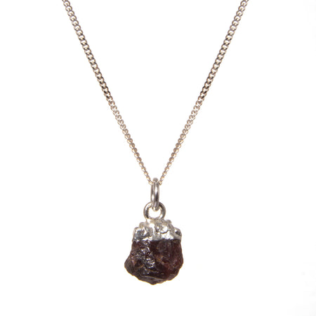 Decadorn Birthstone Pendant (Silver) - January Garnet