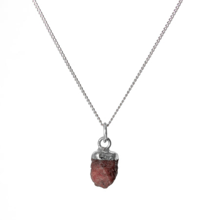 Decadorn Birthstone Pendant (Silver) - July Ruby