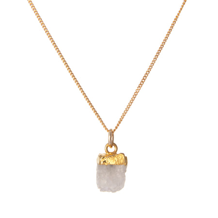 Decadorn Birthstone Pendant (Gold) - June Moonstone