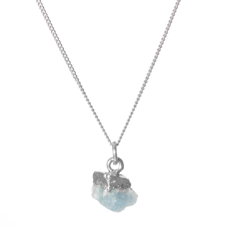 Decadorn Birthstone Pendant (Silver) - March Aquamarine
