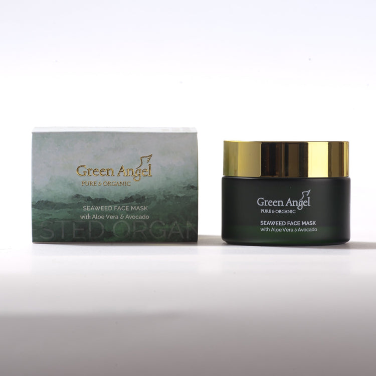 Green Angel Face Seaweed Mask with Aloe Vera & Avocado