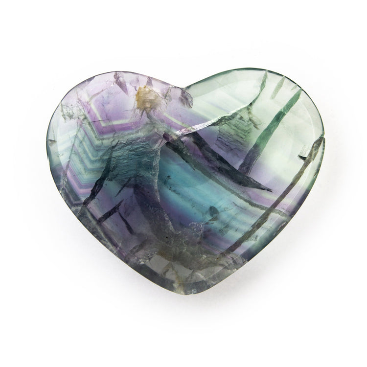 Soulstice Crystal Heart Shaped Bowl -  Fluorite