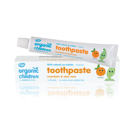 Green People Organic Children Mandarin & Aloe Vera Toothpaste 50ml (Fluoride Free)