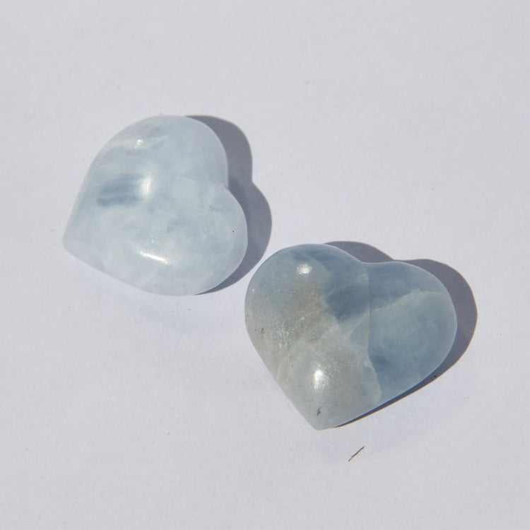 Soulstice Crystal Heart (Medium) - Blue Calcite