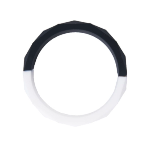 Nibbling Half moon Teething Bangle – Black/White