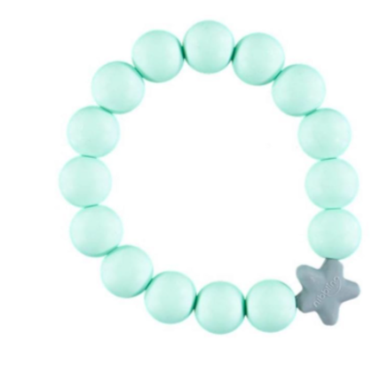 Nibbling Kew Teething Bracelet - Mint