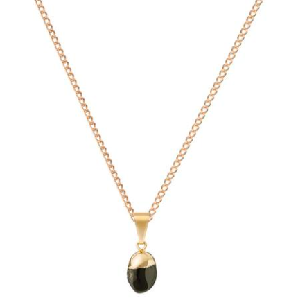 Decadorn Mini Tumbled Gemstone Necklace - Onyx (Strength)