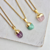 Decadorn Mini Tumbled Gemstone Necklace - Amethyst (Calming)