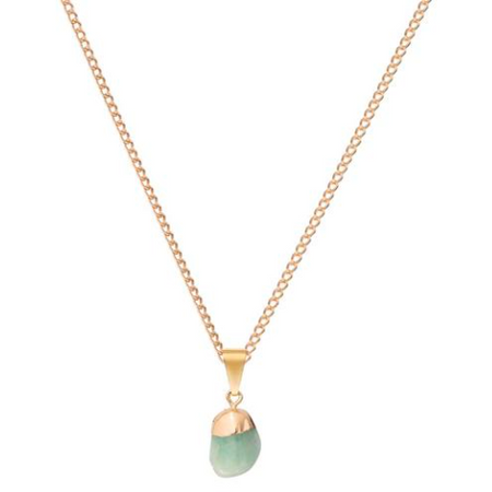 Decadorn Mini Tumbled Gemstone Necklace - Amazonite (Confidence)