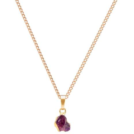 Decadorn Mini Raw Cut Necklace - Amethyst