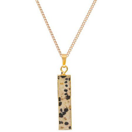 Decadorn Bar Pendant - Dalmation Jasper