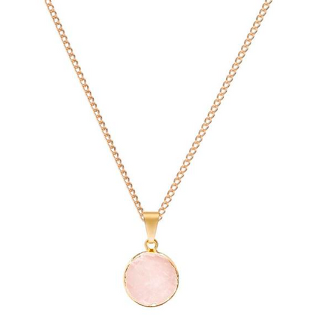Decadorn Mini Circle Pendant - Rose Quartz