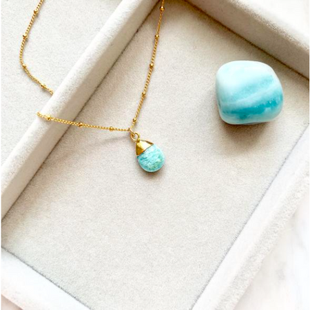 Decadorn Amulet Droplet Necklace - Amazonite