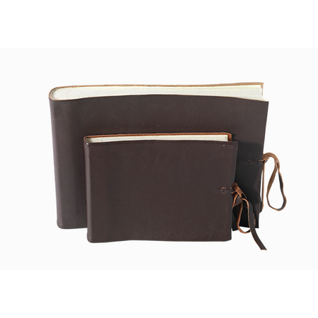 Kubu Leather Photo Album - Dark Brown, Large