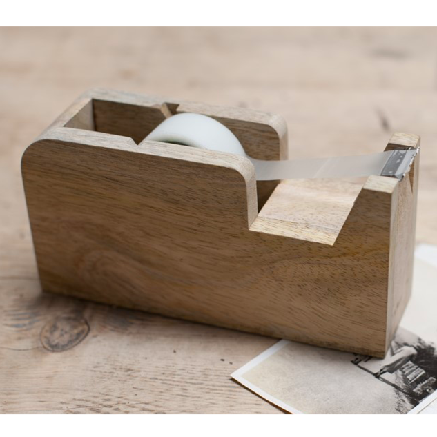Hansa Wooden Tape Dispenser