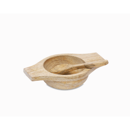 Salt Bowl & Spoon - Mango Wood