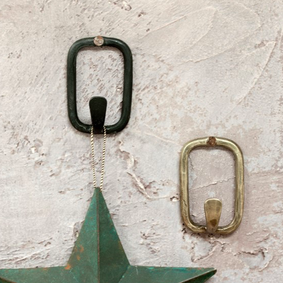 Tima Square Hook - Antique Brass