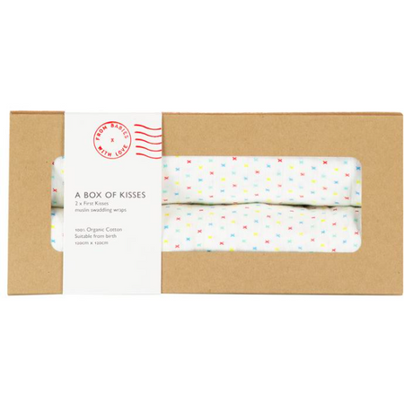 From Babies with Love - First Kisses Muslin Box of 2