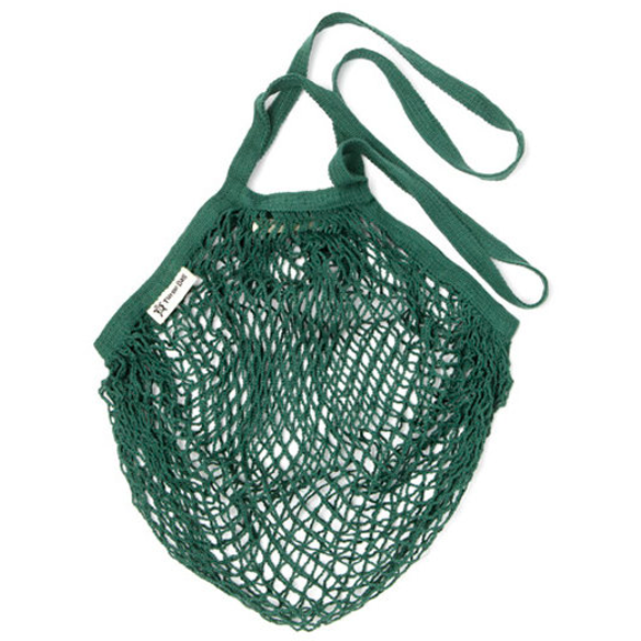 Turtlebag Organic Long Handled String Bag - Dark Green