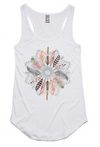 Free Spirit Feather Mandala Vest Top