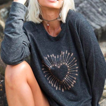 Free Spirit Shot to The Heart Sweater