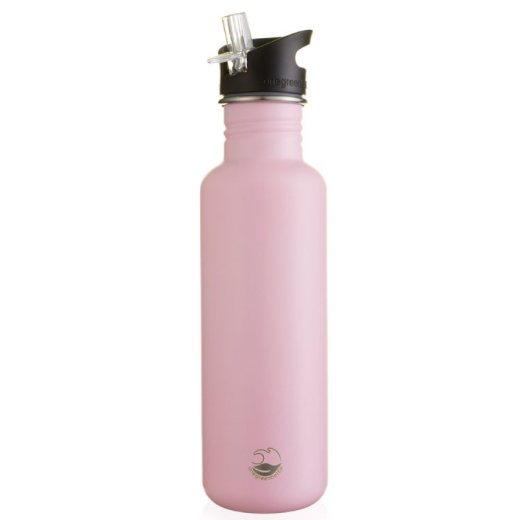 One Green Bottle Stainless Steel Straight Bottle 800ml - Powder Pink