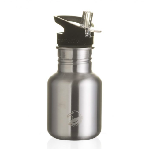 One Green Bottle Stainless Steel Straight Bottle 350ml - Steel