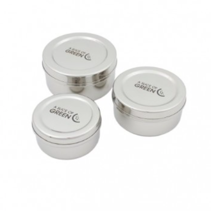 Stainless Steel Food Containers - Set of 3