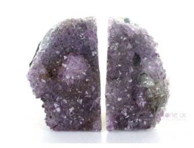 Soulstice Crystal Bookends - Amethyst